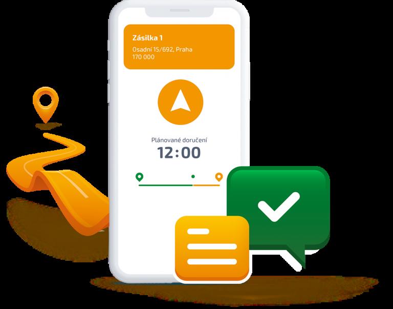 Digitální ilustrace mobilní aplikace Ecofleet